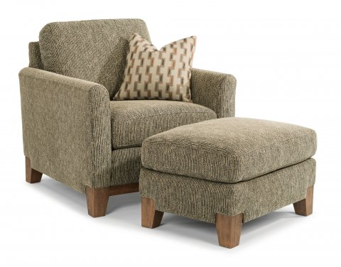 Hampton Chair 7006-10 and Ottoman 7006-08 in 716-00
