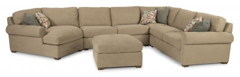 Randall Sectional 7100-SECT & Ottoman 7100-092 in 726-80