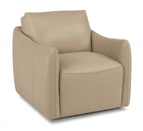 Morgan Leather Swivel Chair 1119-11 in 746-80