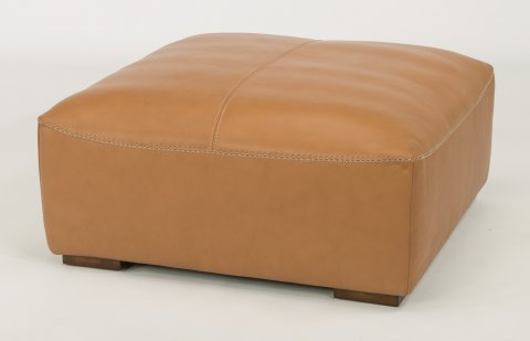 Morgan Leather Square Cocktail Ottoman 1119-092 in 746-50