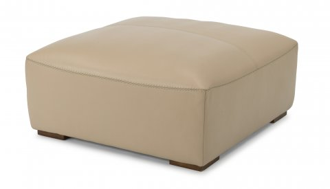 Morgan Leather Square Cocktail Ottoman 1119-092 in 746-80