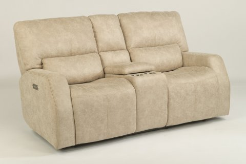 Cooper Power Reclining Loveseat with Console and Power Headrests 1422-64PH in 744-11