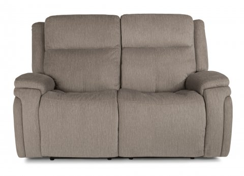 Good Fabric Power Reclining Loveseat With Power Headrests