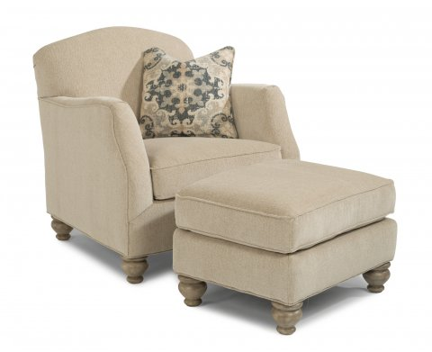 Plymouth Chair 5362-10 & Ottoman 5362-08 in 734-82