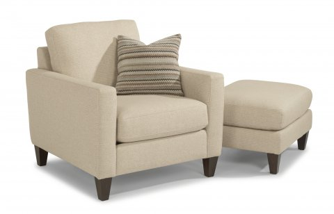 River Chair 7009-10 and Ottoman 7009-08 in 641-11