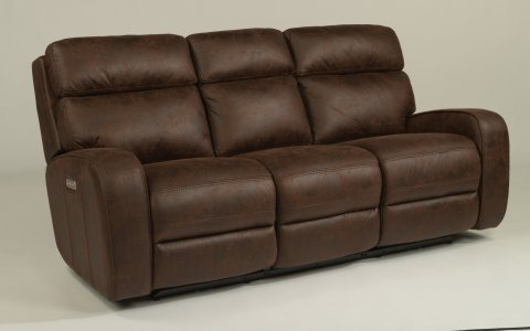 Tomkins Fabric Power Reclining Sofa with Power Headrests 1326-62PH in 167-70