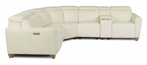 Astra Leather Power Reclining Sectional with Power Headrests 1309-SECTPH shown with 57PH, 19, 23, 59PH, 72, & 58PH pieces in 326-11