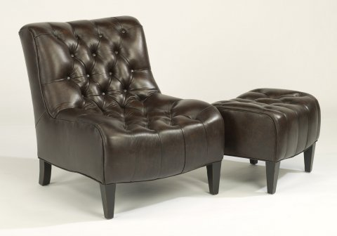 Winslet Leather Chair 1717-10 & Ottoman 1717-08 in 989-70
