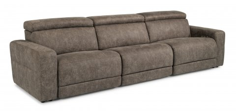 Sonic Fabric Power Reclining Sectional with Power Headrests 1430-SECTPH shown with 57PH, 19, & 58PH pieces in 744-01