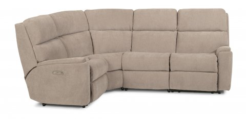 Rio Fabric Power Reclining Sectional with Power Headrest 2904-SECTPH shown with 57H, 23, 19, & 58H pieces in 116-80
