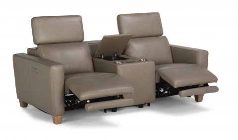 Astra Leather Power Reclining Sectional with Power Headrests 1309-SECTPH shown with 57PH, 19, & 58PH pieces in 326-82