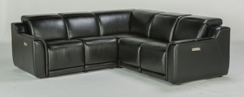 Reign Power Reclining Sectional with Power Headrest 1359-SECTPH shown with -57PH, -19PH, -231, -59PH,  -58PH pieces in 014-00