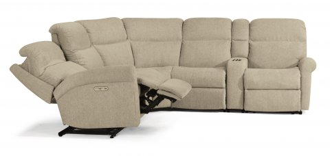 Davis Power Reclining Sectional with Power Headrests 2902-SECTPH shown with 57H, 19, 23, 72, & 58H pieces in 959-80