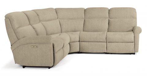 Davis Power Reclining Sectional with Power Headrests 2902-SECTPH shown with 57H, 19, 23, & 58H pieces in 959-80