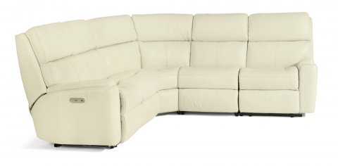 Rio Fabric Power Reclining Sectional with Power Headrest 3904-SECTPH shown with 57H, 19, 23. & 58H pieces in 824-11