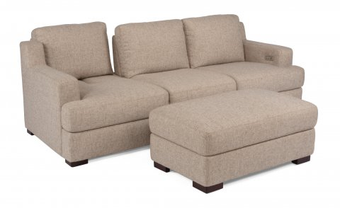 Dowd Fabric Sofa 1152-31P and Ottoman 1152-091 in 335-80