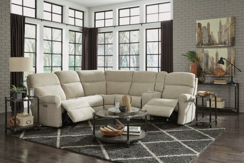 Davis Power Reclining Sectional with Power Headrest Lifestyle