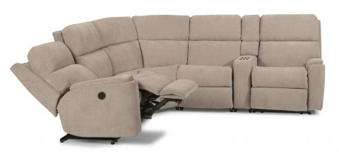 Rio Power Reclining Sectional SECTP shown with 57P, 23, 19, & 58P pieces in 116-80