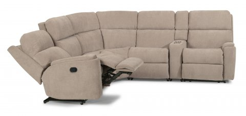 Rio Reclining Sectional 2904-SECT shown with 57, 19, 23, 72, & 58 pieces in 116-80