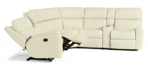 Leather Rio Reclining Sectional 3904-SECT shown with 57, 19, 23, 72, & 58 pieces in 824-11