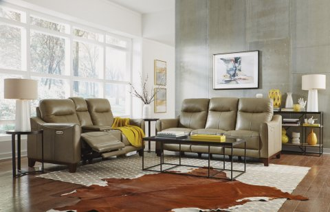 Forte Leather Power Reclining Sofa with Power Headrests 1197-62PH in 282-30