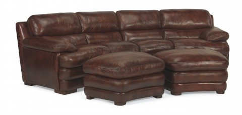 Dylan Leather Conversation Sofa 1127-325 | 1127-326 & Cocktail Ottoman 1127-09 in 908-72