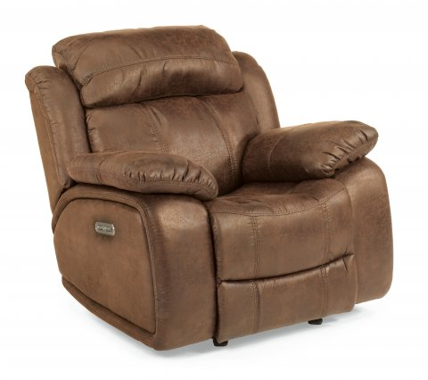 Como Fabric Power Gliding Recliner with Power Headrest 1408-54PH