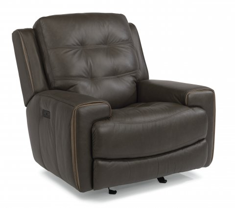 Wicklow Leather Power Gliding Recliner with Power Headrest 1681-54PH in 326-70