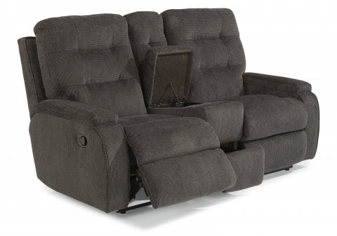 Kerrie Reclining Loveseat with Console 2806-601 in 163-40