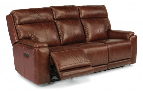 Sienna Leather Power Reclining Sofa with Power Headrests 1675-62PH in 361-54