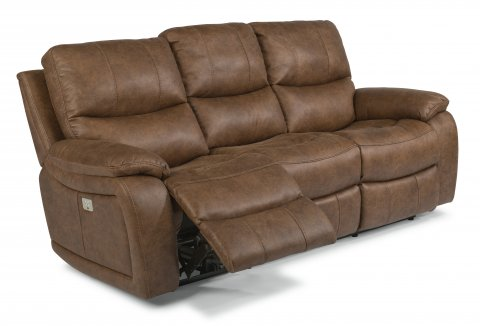 Hendrix Fabric Power Reclining Sofa with Power Headrests 1193-62PH in 498-72