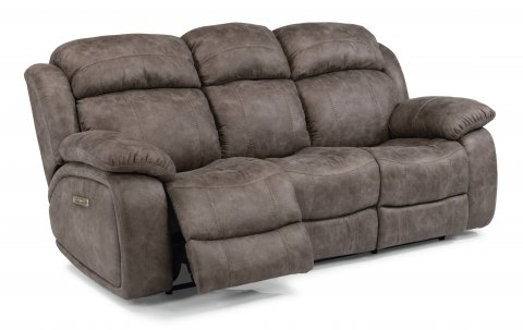 Como Fabric Power Reclining Sofa with Power Headrests 1408-62PH in 496-02