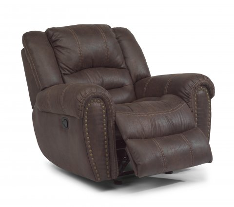 Downtown Fabric Gliding Recliner 1710-54 in 349-70