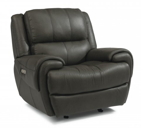 Nance Leather Power Gliding Recliner with Power Headrest 1179-54PH in 450-00