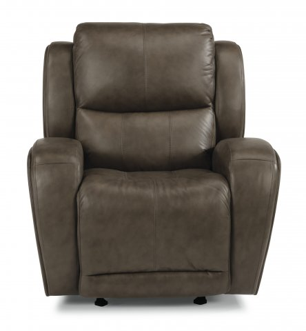 Chaz Leather Power Gliding Recliner 1839-54P in 453-72