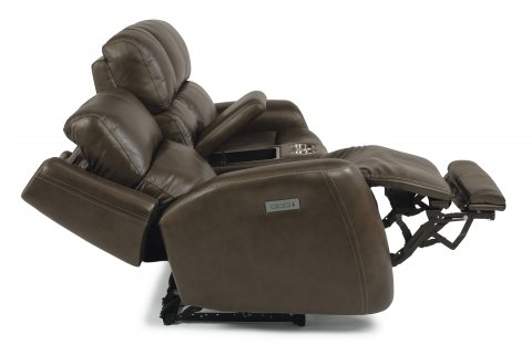 Zelda Leather Power Reclining Loveseat with Power Headrests 1773-64PH in 505-04