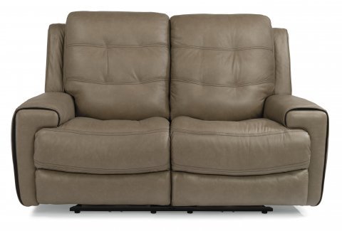 Wicklow Leather Power Reclining Loveseat with Power Headrests 1681-60PH in Leather