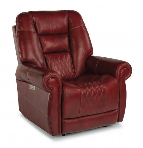 Maverick Leather Power Recliner with Power Headrest 1705-50PH in 394-60