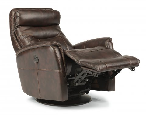 Alden Fabric King Power Swivel Gliding Recliner 1392-53PK in 580-70