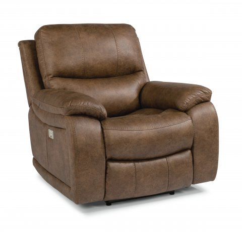 Hendrix Fabric Recliner with Power Headrest 1193-50PH in 498-72