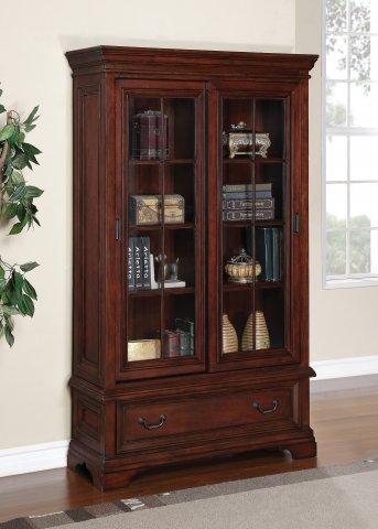 Woodlands Sliding Door Bookcase W1207-709