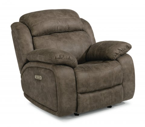 Como Fabric Power Gliding Recliner with Power Headrest 1408-54PH in 496-02