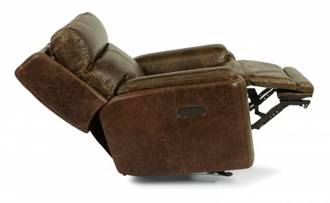 Sienna Leather Power Gliding Recliner with Power Headrest 1675-54PH in 361-70