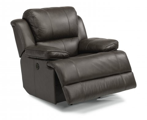 Simon Leather Power Gliding Recliner 1831-54P in 453-70