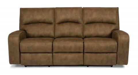 Nirvana Fabric Power Reclining Sofa with Power Headrests 1650-62PH in fabric 136-72