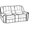 Downtown Fabric Power Reclining Loveseat with Console 1710-604P