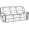 Crosstown Leather Reclining Sofa 1210-62