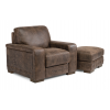 Buxton Leather Chair 1117-10 & Ottoman 1117-08 in 478-70