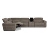 Sonic Fabric Power Reclining Sectional with Power Headrests 1430-SECTPH shown with 57PH, 23, 59PH, 73, and 58PH pieces in 744-01