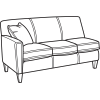 Digby Fabric High Leg Sectional Flexsteel For Home